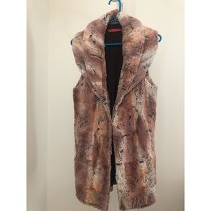 Alice and Olivia Faux Fur Vest Never Worn